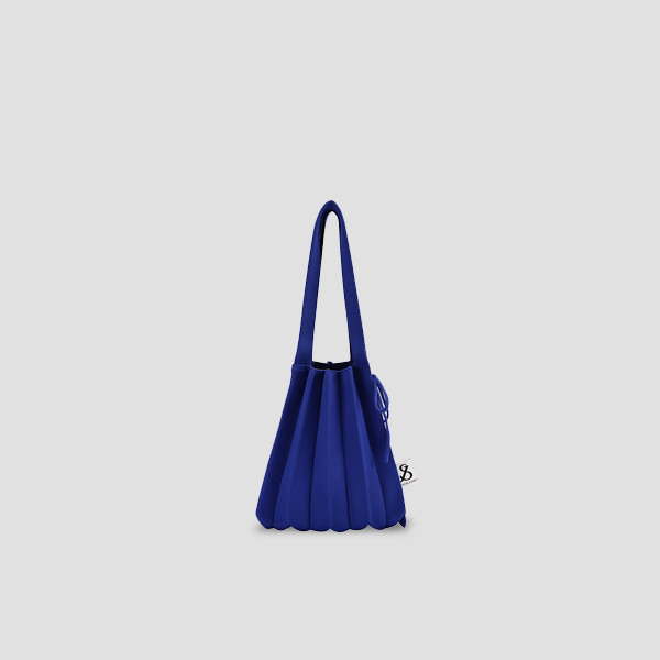 Lucky Pleats Knit S Royal Blue