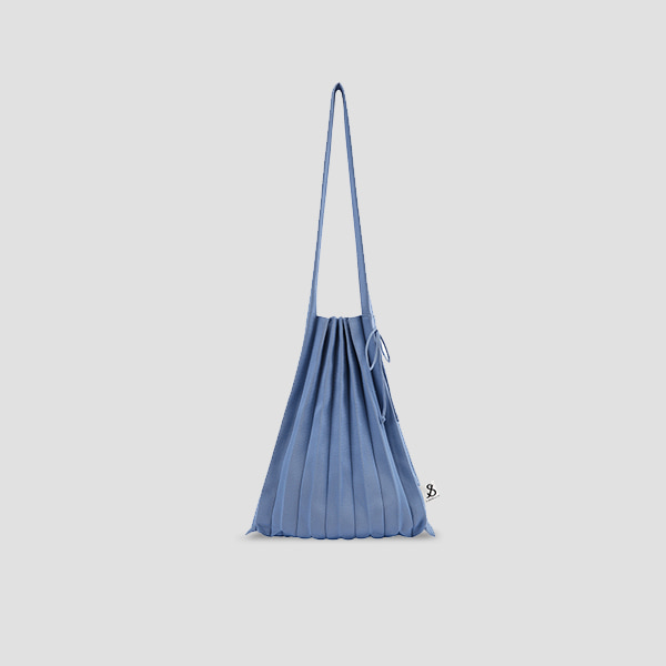 Lucky Pleats Knit M Ceramic Blue