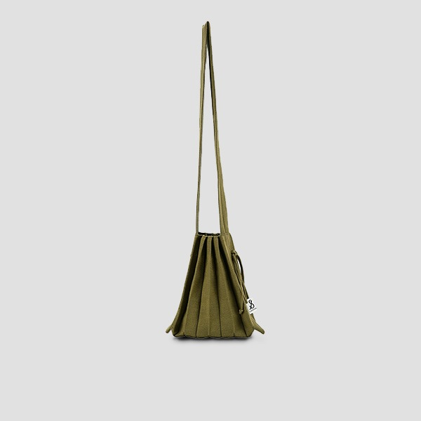 Lucky Pleats Knit Warm Crossbag S Olive