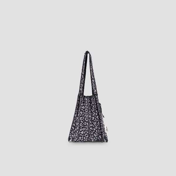 Lucky Pleats Knit S Leopard Charcoal/Grey