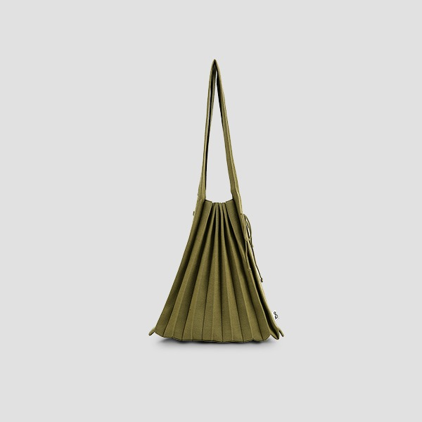 Lucky Pleats Knit Warm Crossbag M Olive