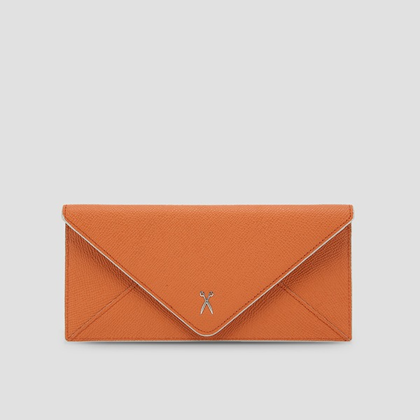 [전혜빈 착용] Easypass Amante Flat Wallet Long Sand Orange