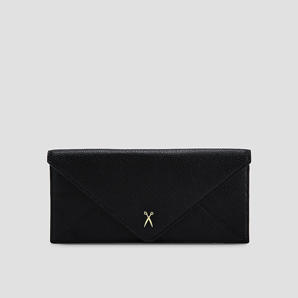 Easypass Amante Flat Wallet Long Rich Black