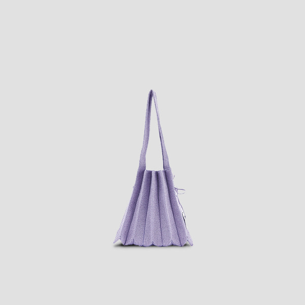 Lucky Pleats Knit S Starry Lavender