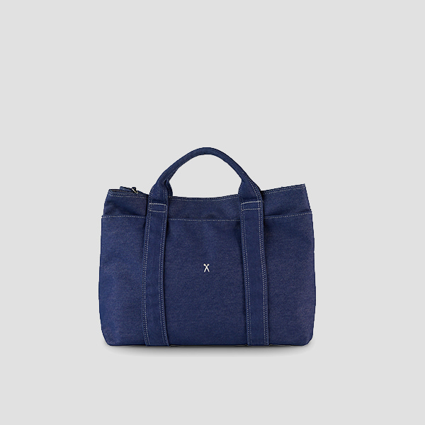 [예약배송 3/25] Stacey Daytrip Tote Canvas Denim(+Webbing Strap)