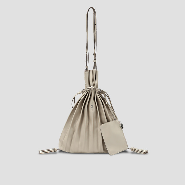 Lucky Pleats Shopper Ecru Beige