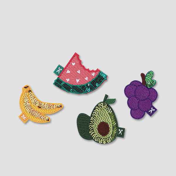 Lucky Pleats Wappen Fruits Set