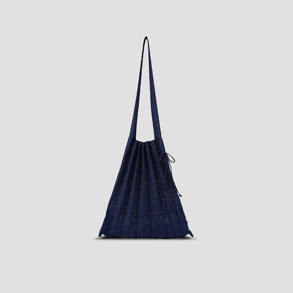 Lucky Pleats Knit M Starry Navy