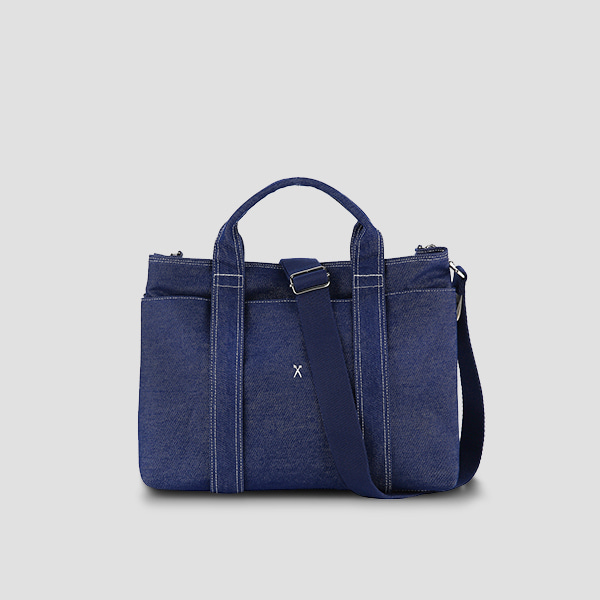 [신소율 착용]Stacey Daytrip Tote Canvas Denim(+Webbing Strap)