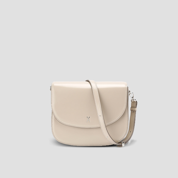 Luna Disco Cross Bag Ecru Beige